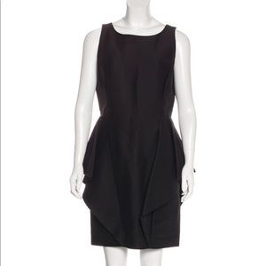 New Halston Heritage Silk Blend Peplum Dress